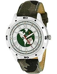 Golden Bell Original Multicolor Dial Green Strap Analog Wrist Watch For Men - GB-905