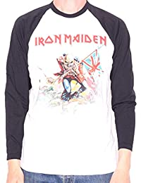 Iron Maiden T Shirt - The Trooper Long Sleeve Retro Style 100% Official