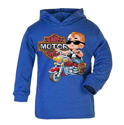 Motor Kleinkind T-shirt (Baby Motor Club Kinder Kapuzenpullover für Kleinkinder, 2-3 Jahre, Blau)