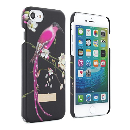 Official Ted Baker Aw16 Soft-feel Back Shell For Iphone 8, 7, 6s - Mireill - Flight Of The Orient Black