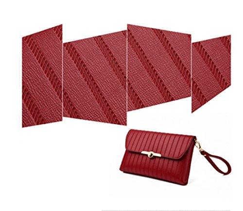 LAIDAYE Damen Handtasche Pack Tasche Handtasche Umschlag Tasche Schulter Diagonale Paket 3