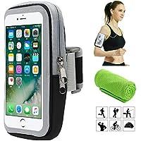 Brassard de Sport, Smartphone Bracelet Poignet pour iPhone X XS Plus 8 7 6 6s 5 5C 5S Se Samsung Galaxy S9 S8 S7 S6 A5 A3 J5 J3 Note Edge Huawei p8 p9 p10 Lite, écouteurs Téléphone Mobile 6.0 Pouces