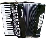 Scarlatti 72 Bass Akkordeon Schwarz
