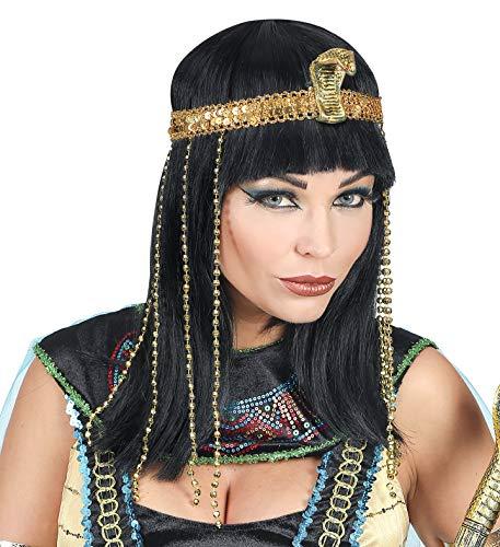 Perücken Mit Kostüm Womens - Widmann Srl 02089 Perücke mit Perlenstirnband, Women, mehrfarbig