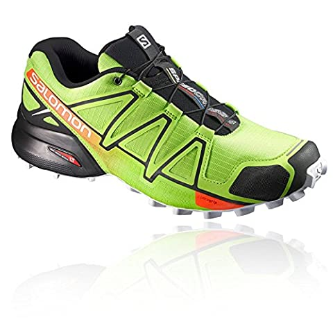 Salomon Speedcross 4, Chaussures de Trail Homme, Multicolore (Lime Green/Black/Scarlet Ibis), 43 1/3 EU