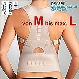 TOP & MARKE - Größe M bis L - Rücken Schulter GERADEHALTER zur Haltungskorrektur DAMEN & HERREN Rückenstabilisator Rückenbandage Lendenwirbel für perfekte Haltung - mit Magneten & verstellbaren Trägern