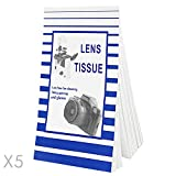 Neewer® Camera Lens Cleaning Tissue & Cloth Kit: 5 Booklets of Disposable Lens Cleaning Paper Lintless Tissue (Each Booklet Contains 50 Sheets) + Ultra Gentle Microfiber Cleaning Cloth