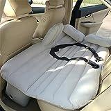 D&F Materasso gonfiabile per auto viaggio Materasso ad aria compressa Camping Soffione universale SUV per bambino con due cuscini d'aria e cintura di sicurezza, gray