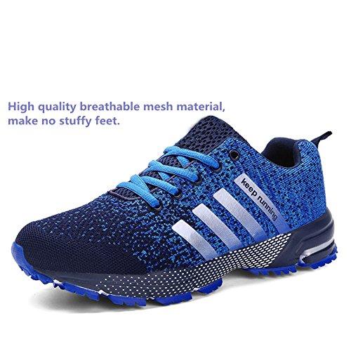 Uomo-Donna-Ginnastica-Trekking-Estive-Sneakers-Sportive-Nero-Rosso-Blu-Verde-Rosa