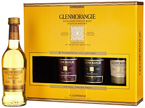 Glenmorangie The Pioneering Collection Taster Pack Whiskey mit Geschenkverpackung (4 x 0.1 l) -