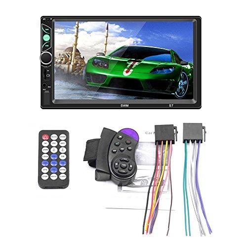 lā Vestmon Autoradios Bluetooth Autoradio, DREI Bildschirm mit Dem Auto MP5/MP4/MP3 Player Karte Radio Bluetooth Telefon für Android/iPhone Internet Umkehren des Video Eingangs, 7 Zoll