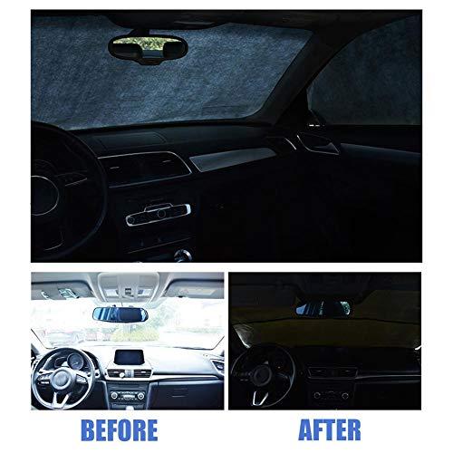 Todaytop Universal Car Sonnenblenden Problemlose Windschutzscheibenabdeckung Sonnenschutz Halten Sie Ihr Fahrzeug kühl, UV-Sonnen- und Wärmereflektor