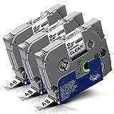 Labelwell Tzc Tze131 Tze131s 0.47 12mm Transparent Kompatibel Schriftband für Brother P-Touch Beschriftungsgerät PT H105 1000 1010 D600VP H110 P750W P900W P700, Ersatz für Brother Tz Tze-131 Tze-131s