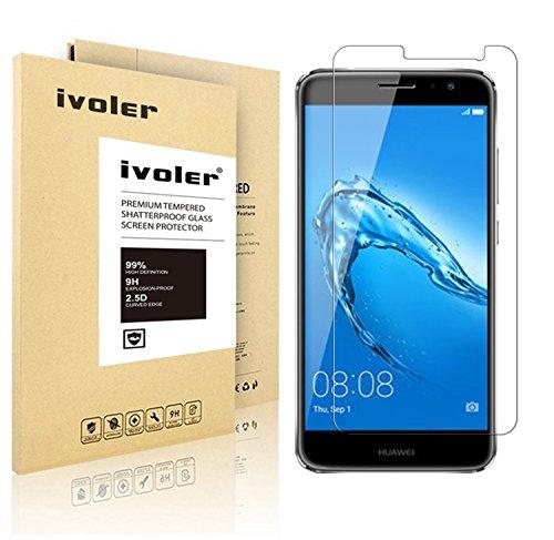 Huawei Nova Plus Pellicola Protettiva, iVoler® Pellicola Protettiva in Vetro Temperato per Huawei Nova Plus - Vetro con Durezza 9H, Spessore di 0,2 mm,Bordi Arrotondati da 2,5D-Shockproof, Trasparenza ad alta definizione, Facile da installare- Garanzia a vita