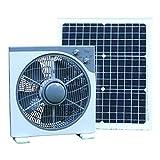 PK Green Solar Ventilator Lüfter 12V mit 40W Solarpanel | Solarlüfter DC für Boote, Gartenhaus, Gewächshaus, Auto, Zelt, Camping | Tischventilator Tragbar 39x38CM für Garage, Wohnmobil | Belüftungset