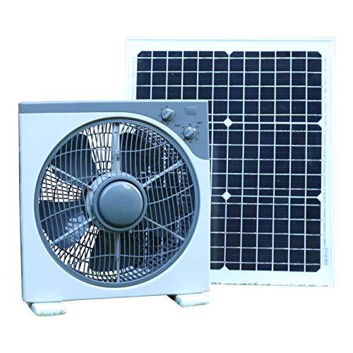 PK Green Solar Ventilator Lüfter 12V mit 40W Solarpanel | Solarlüfter DC für Boote, Gartenhaus, Gewächshaus, Auto, Zelt, Camping | Tischventilator Tragbar 39x38CM für Garage, Wohnmobil | Belüftungset (Tragbare Garage Zelt)