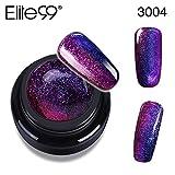 Elite99 UV Nagellack farbgel Gel Nail Art Gel Polish Chamäleon Farbwechselnd Hologramm 1 Stück 5ML+ 1 stück kostenlosen Pinsel