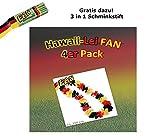 KarnevalsTeufel 4er Pack Fan Hawaiikette, EM, WM, Fanartikel, Deutschland, Germany