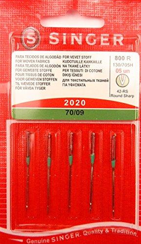5 Original Singer Nähmaschinen Nadeln 2020 Stärke 70/09 für gewebte Stoffe 130/705