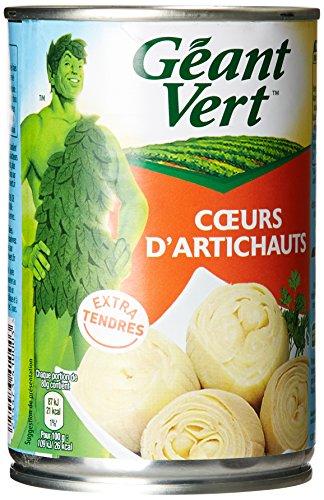 Géant Vert Cœurs d'Artichauts la Boite de 240 g - Lot de 4