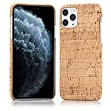 NALIA Kork Hülle kompatibel mit iPhone 11 Pro Max, Natur-Holz Hardcase Design Cover Muster Schutzhülle, Holzhülle Handy-Tasche Cork Phone Case Backcover Handyhülle Bumper, Motiv:Light Cork