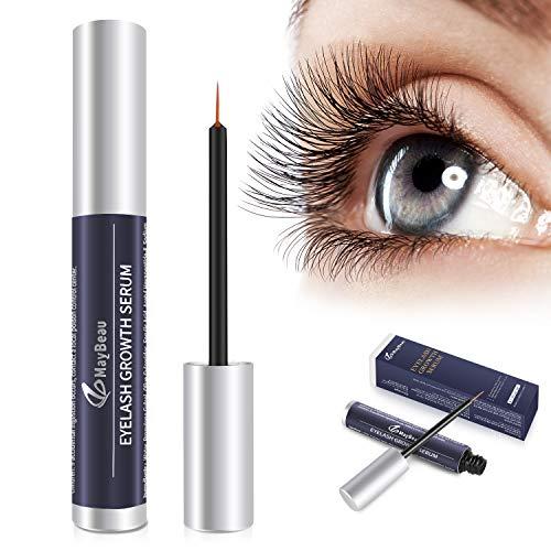MayBeau Wimpernserum & Augenbrauenserum 5 ml Wimpern Booster für Starkes und Schnelles Wimpernwachstum Natürliche Wimpernverlängerung...