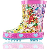 GladRags Girls Kids Shopkins Wellies Wellington Boots Rain Shoe Official Ankle Length Size 8 9 10 11 12 13 1 2