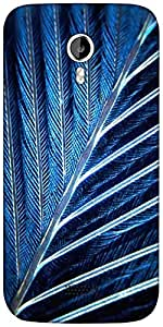 Snoogg feather Designer Protective Back Case Cover For Micromax A116