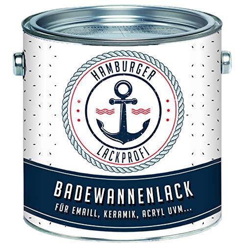 Hamburger Lack-Profi RAL 9016 - Vernice per vasca da bagno, colore: bianco lucido, Bianco