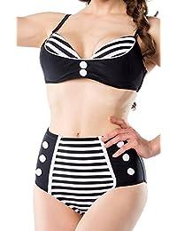Vintage Bikini im Marine Look