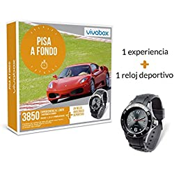 VIVABOX Caja Regalo -Pisa A Fondo- 1.590 experiencias. Incluye: un Reloj analógico Negro