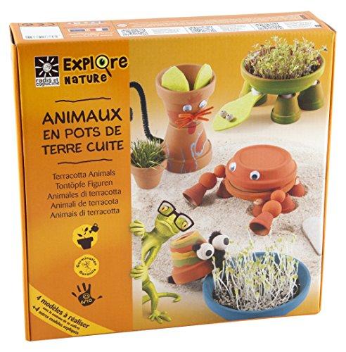 Radis et Capucine Coffret Loisir Créatif Animal/Pot Terre Cuite Multicolore 5 x 5 x 5 cm