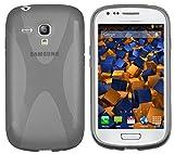 mumbi X-TPU Schutzhülle für Samsung Galaxy S3 mini Hülle schwarz halbtransparent
