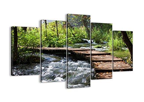 Cuadro sobre lienzo - 5 piezas - Impresión en lienzo - Ancho: 150cm, Altura: 100cm - Foto número 0356 - listo para colgar - en un marco - EA150x100-0356