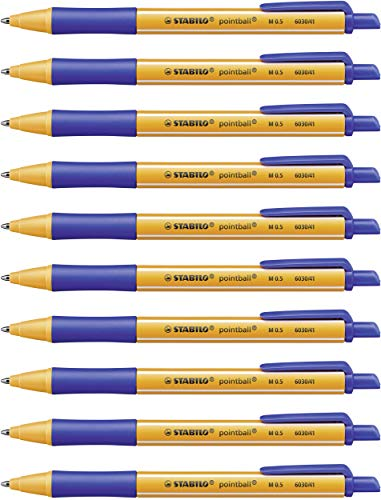 Kugelschreiber - STABILO pointball - 10er Pack - blau