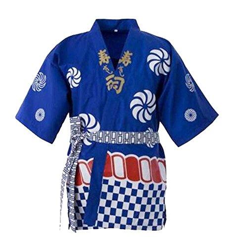 (Unisexarbeitsbekleidungs-Kleider-japanischer Chef-Mantel-Sushi-Koch Jacket Kitchen Uniform, A)