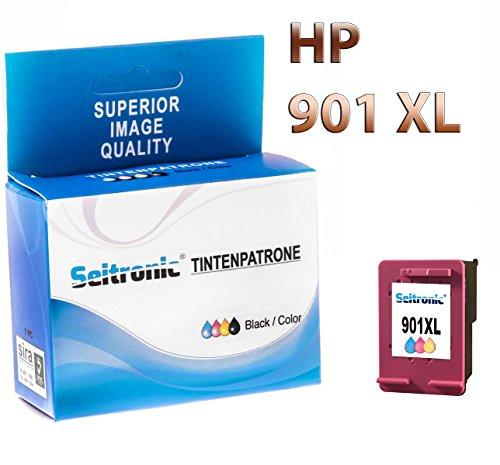 Preisvergleich Produktbild 1x Drucker Patrone Seitronic für HP 901XL Farbig Officejet 4500 J4500 J4524
