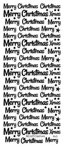 1x Or Joyeux Noël Mix peeloff autocollants pour pour création de cartes, travaux manuels 840
