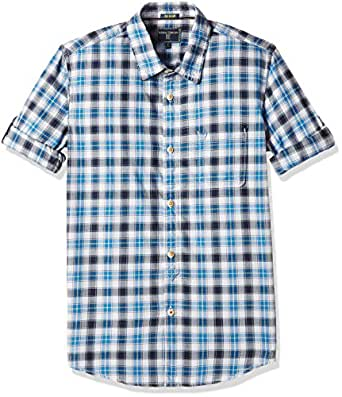 Indian Terrain Boys' Shirt (TBA16SHK041_Cobalt_EES)
