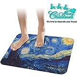 """Cennbie Alfombrilla antideslizante para baño cennbie Super suave baño alfombra suave absorbente baño alfombra tamaño grande, 23"""" W X 15.5"""" L(noche estrellada)"""