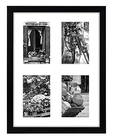 Bilderrahmen Collage 12x 16–Zeigt vier 10,2x 15,2cm Bilder mit weiße