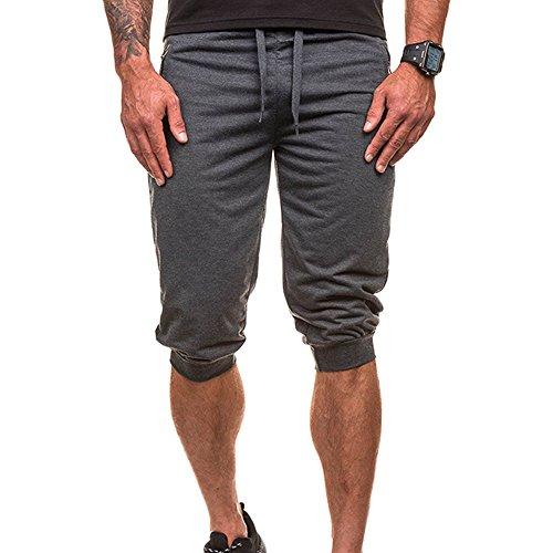 Kanpola Hosen Herren Slim Fit - Sport Männer Casual Sporthose Jogginghose Jogger Pants 3/4 Lang Hose