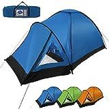 Kuppel-Zelt SUNSCOUT für 3 Personen Wassersäule 3000 von BB Sport, Farbe:blau