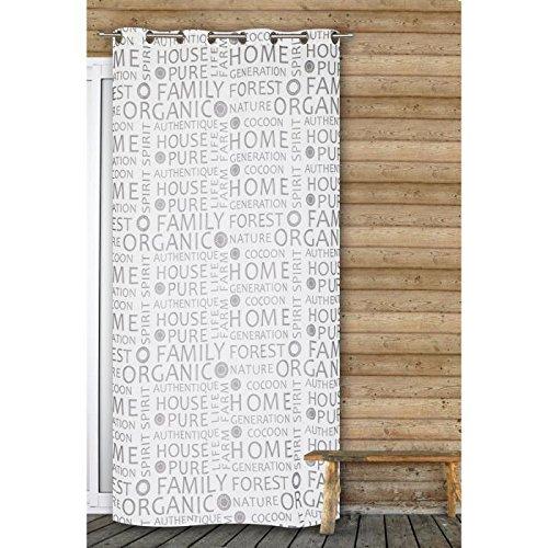 Preisvergleich Produktbild Gardine Leinen Organic 140x 240cm hellgrau