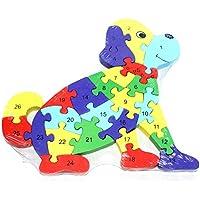 AeMBe - Puzzle in Legno - Cane - Gioco Educativo / Giocattoli di Legno / Gioco di Memoria per i Bambini - Regolazioni Creazione Giochi - Esercizi Motori