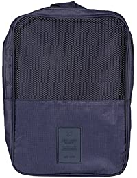 Tamirha Polyester Smart Navy Blue Travel Shoe Bag Organizer