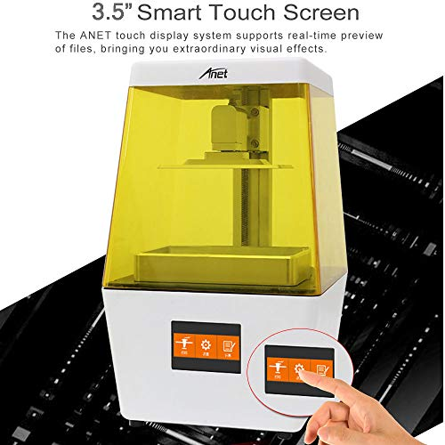 2019 Anet N4 desktop UV LCD resin 3D Printer assembled with 3.5 inch large smart color touch screen and 120 x 65 x 138mm 3d bulid volume - 3
