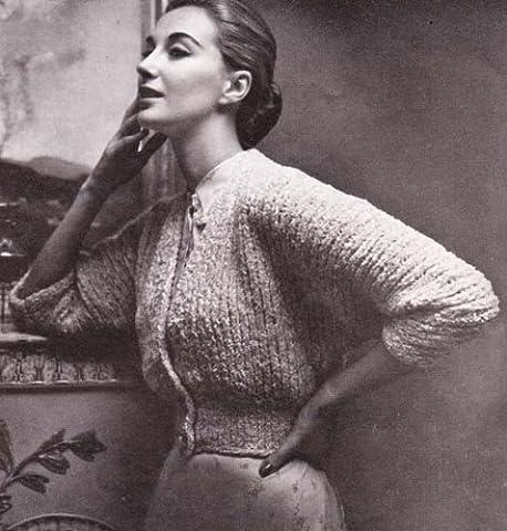 Bed Jacket Shrug Sweater Bolero No. 2327 Knitting Pattern