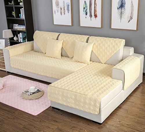 AISHUAIGE HUANZI einfarbig Sofa Sesselbezug Sesselhusse Gesteppte plüsch schutzhülle weiche Couch Abdeckung Sofa Schutz wohnmöbel, 110 * 180 - Kissen-abdeckungen Gesteppte Baumwolle