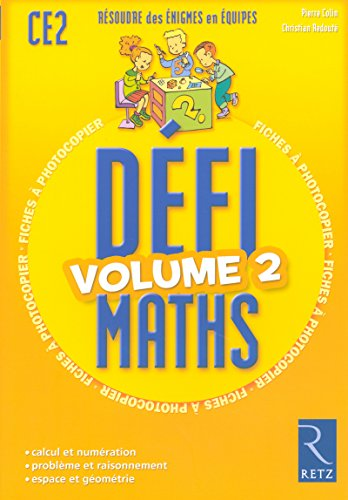 Défimaths - Volume 2 par Christian Redouté, Pierre Colin